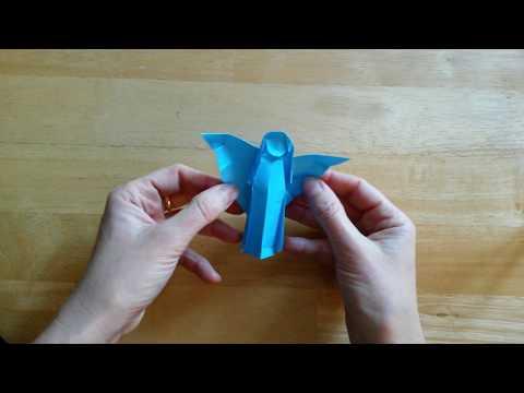 Origami Angel by John Smith (Streatham Library Christmas Origami)