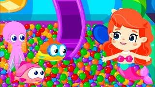 #Cartoon auf Deutsch 🌊 Die kleine Meerjungfrau 🐚 Wir #lernen Farben 🎨 Zeichentrick für Mädchen