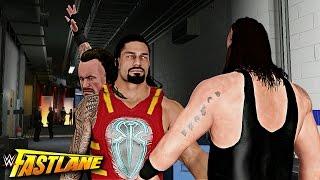 WWE 2K17 Fastlane 2017 Story - Roman Reigns vs Braun Strowman & Undertaker Destroys Reigns!