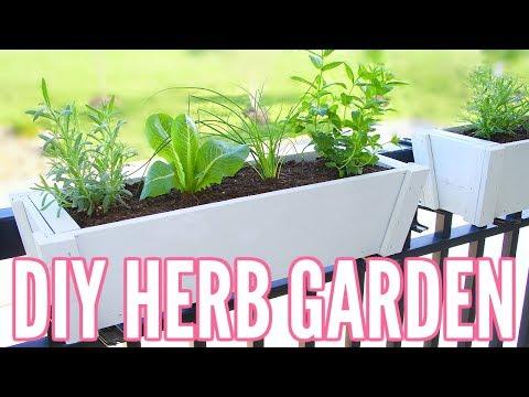 DIY HERB GARDEN | How To Plant an Herb Garden - Great for Apartments!! Easy Beginner Gardening!!