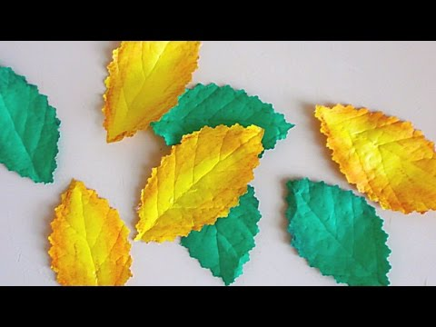 How To Make Realistic Leaves from Paper - DIY Crafts Tutorial - Guidecentral