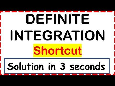 DEFINITE INTEGRATION SHORTCUT- Trick to calculate Definite Integrals in 3 seconds