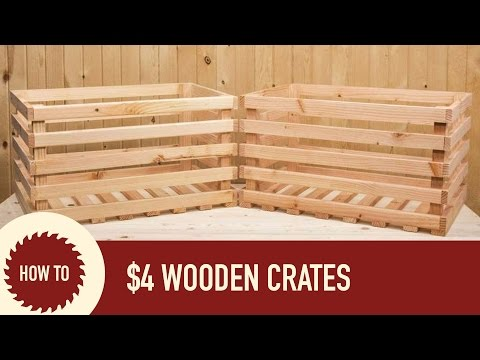How to Make a Wood Crate from a 2x6
