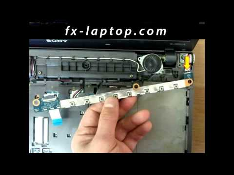Disassembly Sony Vaio VPCF1 - replacement, clean, take apart, keyboard, screen, battery