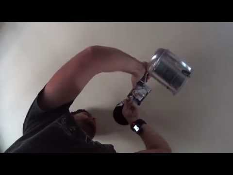 Removing CFL G24 Can Light & Installing LED 6