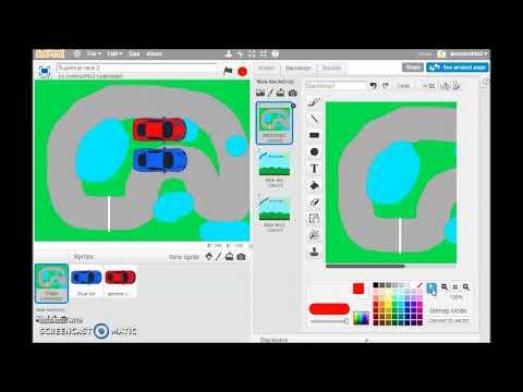 Car race game in Scratch part 1