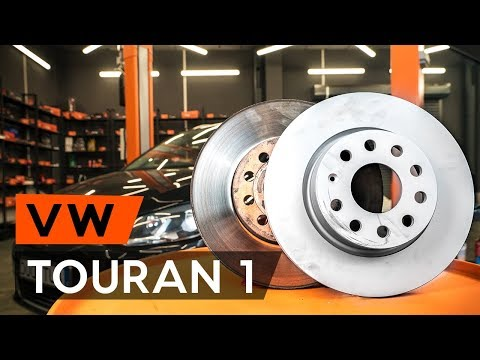 How to replace front brake discs / front brake rotors onVW TOURAN 1 (1T3)[TUTORIAL AUTODOC]