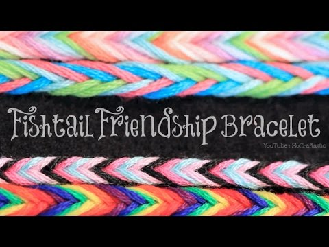 DIY Fishtail Friendship Bracelet | SoCraftastic