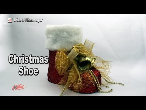 How to make Christmas Santa Boots Out of Plastic Bottle | DIY Christmas decorations | JK Arts 1140