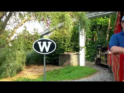 Dry gulch railroad train ride at Hershey Park