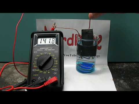 Make a Copper sulfate and zinc battery -