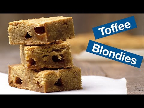 Brown Butter Toffee Blondies Recipe || Le Gourmet TV Recipes