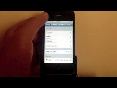 Configurar Outlook en iPhone, iPad, iPod Toch