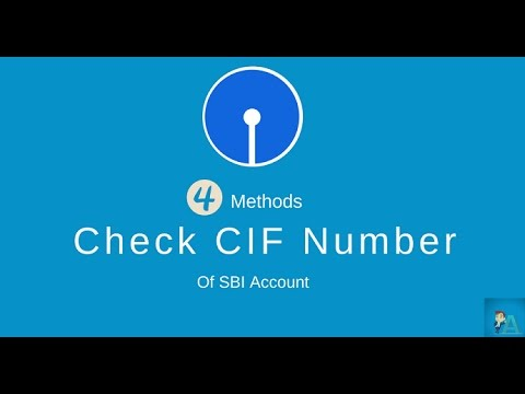 Check Online SBI Account CIF Number