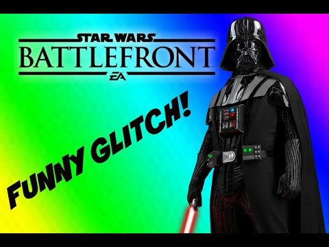 Darth Vader Funny Glitch! - Battlefront