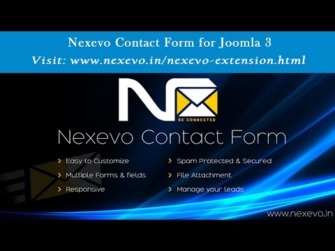 How To Use The Nexevo Contact Form for Joomla 3