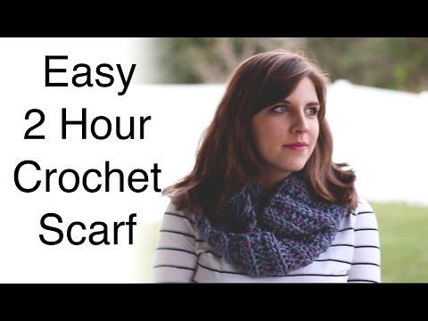 Easy 2 Hour Crochet Scarf | Sewrella