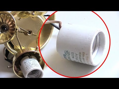 Light Bulb Socket flickering Quick & Easy fix!