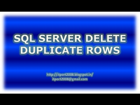 SQL Server Delete Duplicate Rows Simple Example