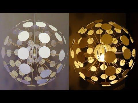 Pendant Lamp DIY (Pilea) - Designer Lighting Challenge - EzyCraft