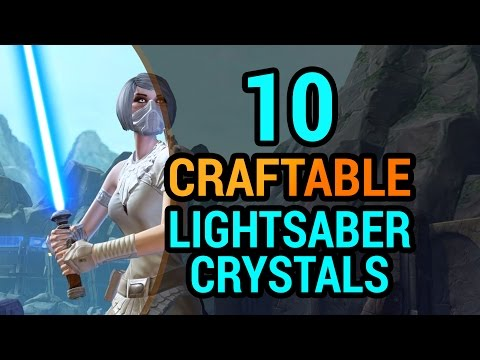 10 Lightsaber Crystals You Can Craft in SWTOR