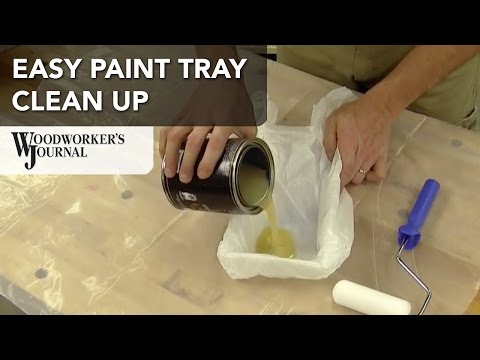 How to Clean a Paint Tray the Easy Way