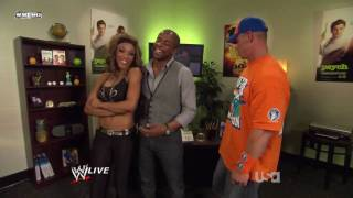WWE Raw 25/1/10 Alicia Fox, John Cena & Dule Hill Backstage Segment.