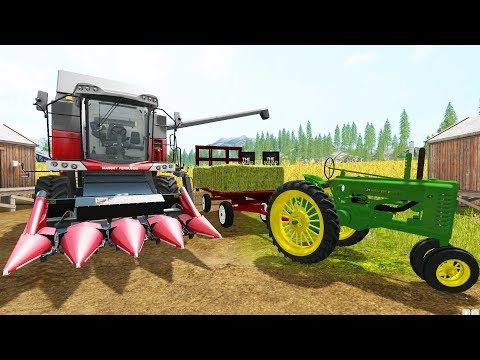 FARMING SIMULATOR 2017 | CORN MAZE DESIGNING WITH COMBINE + HAY WAGON RIDES