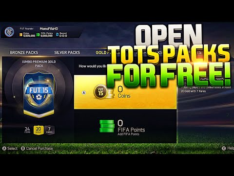 HOW TO OPEN UNLIMITED TOTS PACKS FOR FREE - FIFA 15