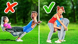 ULTIMATE ACROBATICS CHALLENGE! PRO vs NOOB || Impossible Gymnastic Tricks By 123 GO! CHALLENGE