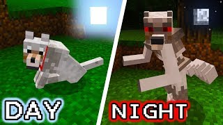 Wolves Turn into a WEREWOLF at NIGHT in Minecraft Pocket Edition!