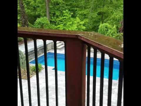 Pool builder of LEISURE FIBERGLASS POOLS shows us award winning backyard