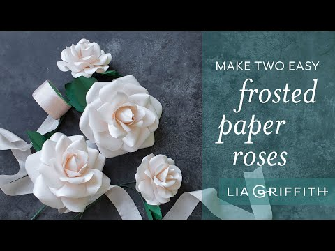 How To Make a Paper Rose with Metallic Paper