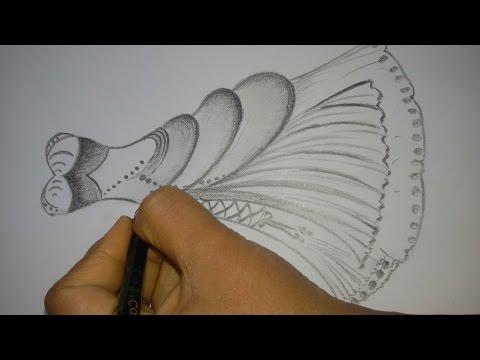 how to draw a dress design - S Pollen