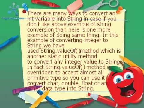 Conversion of Int to String in Simplest Ways