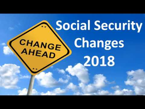 Social Security Changes for 2018