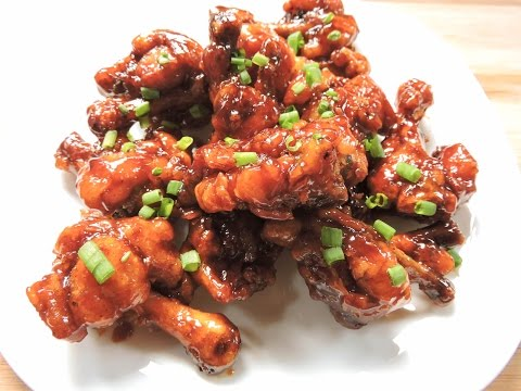 Crispy Honey Chicken Wings - How to Make Honey Chicken   Herbs and Flavours