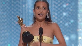 Alicia Vikander winning Best Supporting Actress