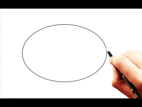 How to Draw a Perfect Egg Shape (ellipse) with 3 pencils