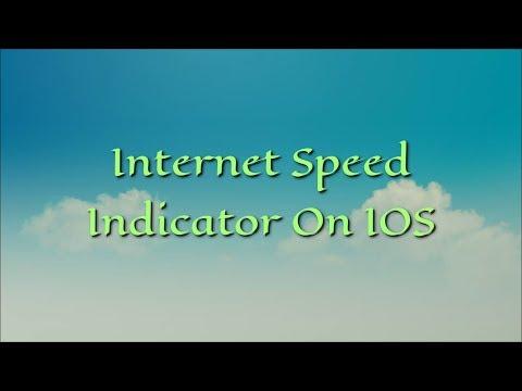 Internet Speed Indicator On IOS