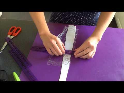 How to cut letters out of fondant / Jak wykrawać literki z masy cukrowej