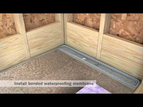 StreamLine Linear Shower Drain Installation - Full Mortar and Thin Bed