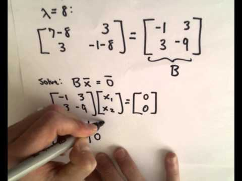 ❖ Finding Eigenvalues and Eigenvectors : 2 x 2 Matrix Example ❖