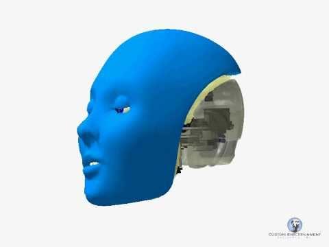 Animatronic Robotic Jaw Mechanism