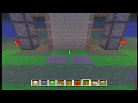 2x3 Piston Doors w/ Lock! Minecraft Xbox 360!