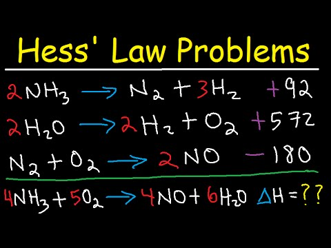 Hess Law Chemistry Problems - Enthalpy Change - Constant Heat of Summation