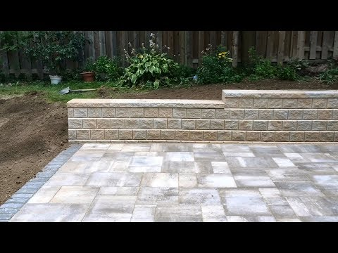 Patio and Retaining Wall Installation