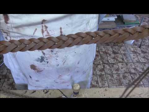 Fishtail braid leather dog leash
