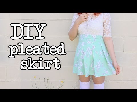 DIY Pleated Skirt Tutorial (like the American Apparel Tennis Skirt)