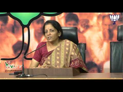 BJP Press Conference on North East agenda by Smt. Nirmala Sitharaman